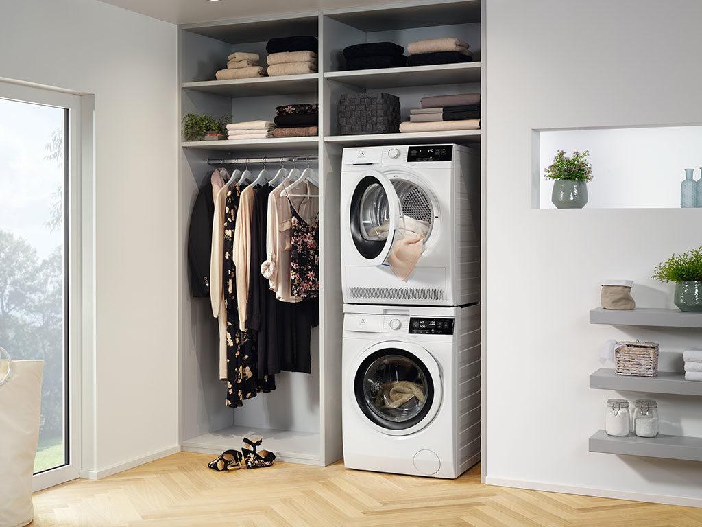 asciugatrice e lavatrice colonna