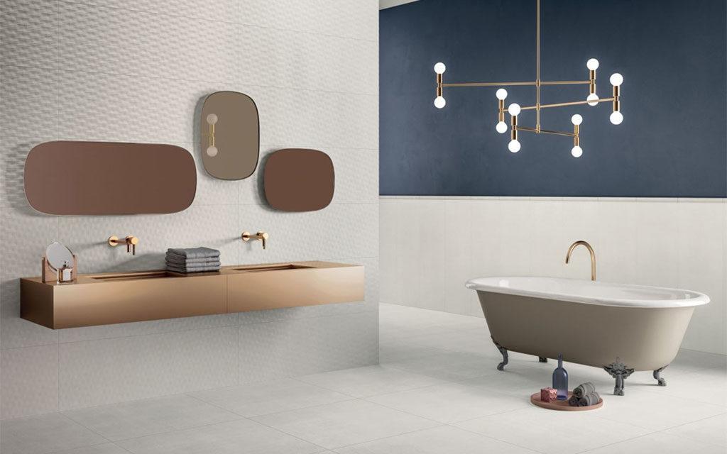 bagno moderno chiaro ceramica