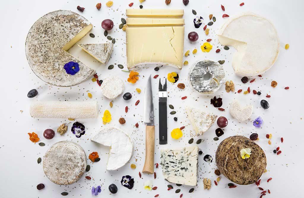 coltello da formaggio e forchetta