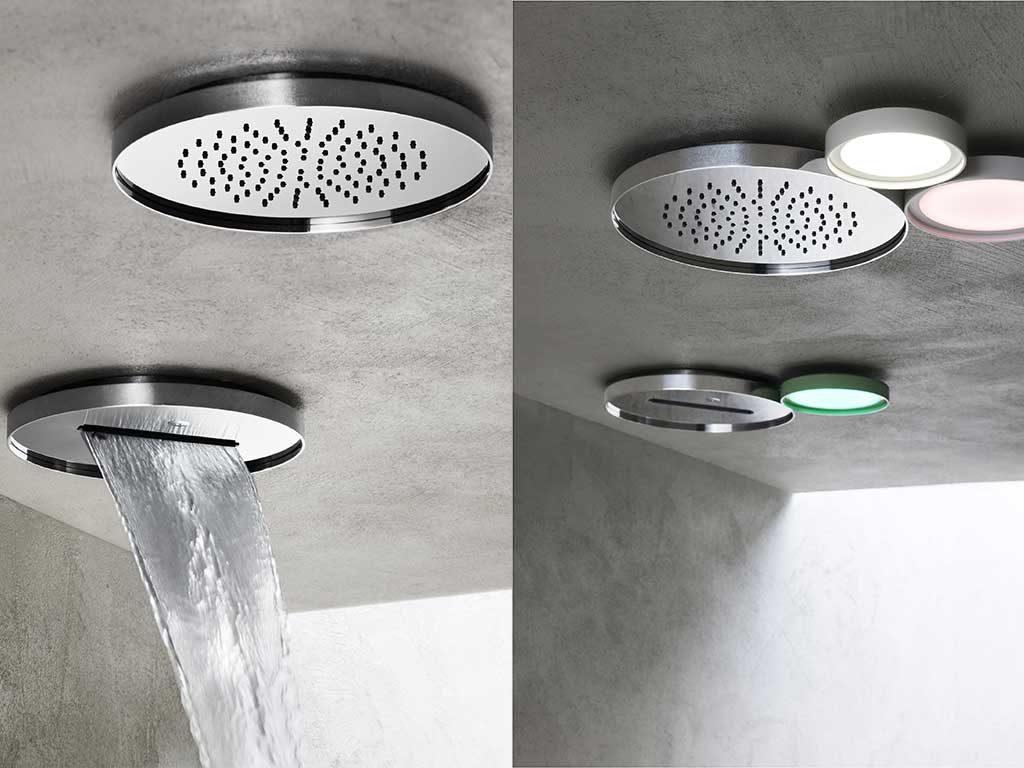 soffione doccia soffitto cascata