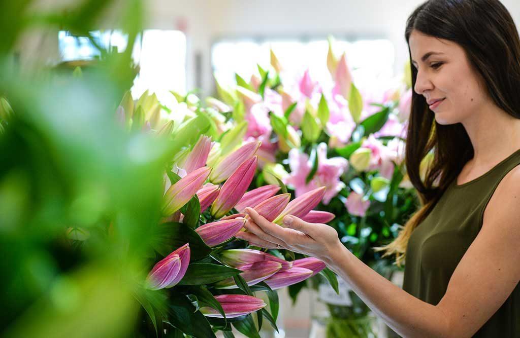 fiori freschi donna