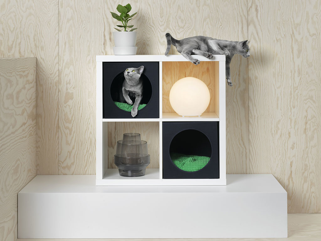 cubo mobile inserto cuccia gatto