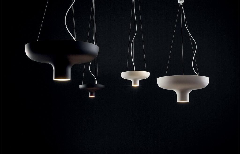 lampade sospensione nero bianco