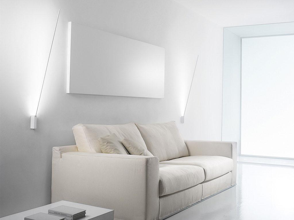 lampade parete design sopra divano