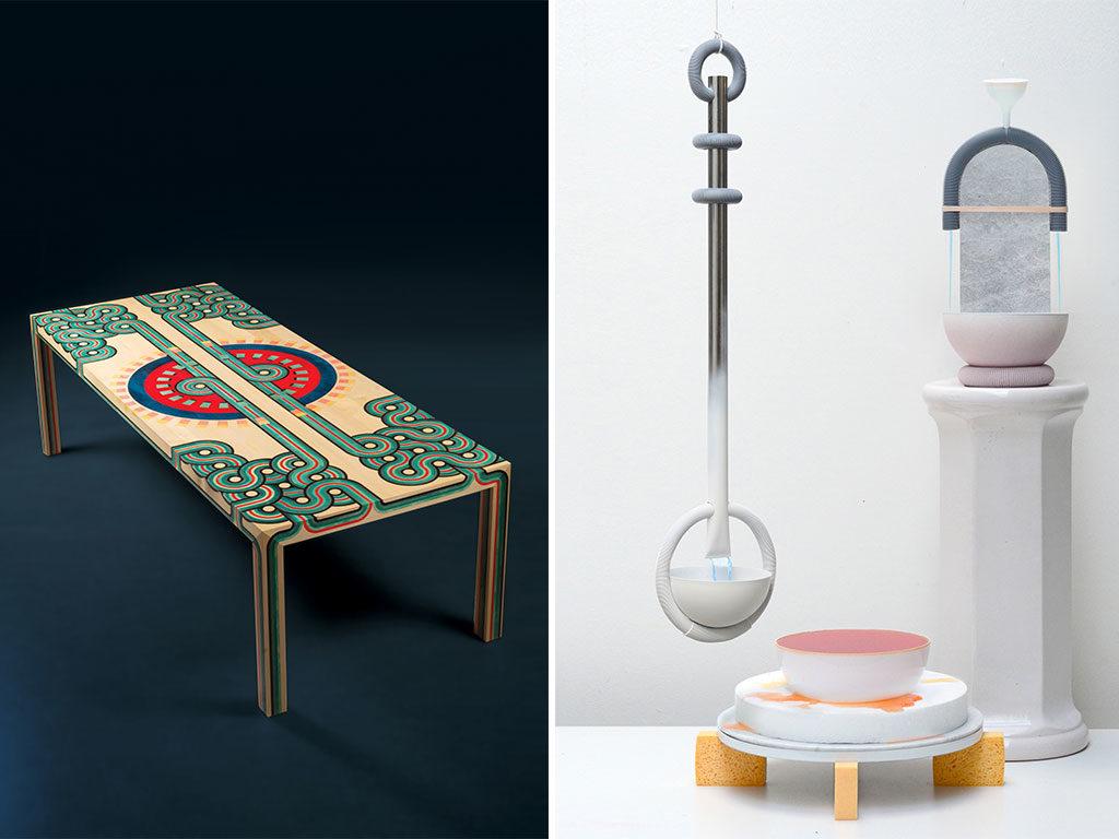 tavolino e ciotole ceramica