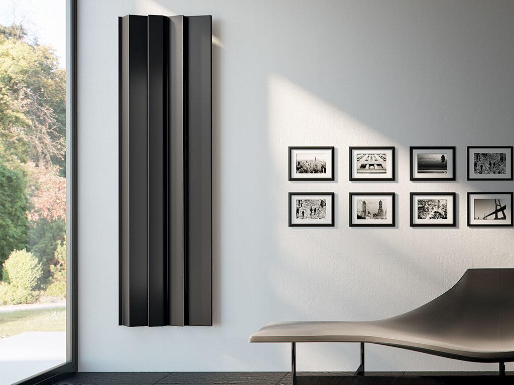 termoarredo parete verticale nero