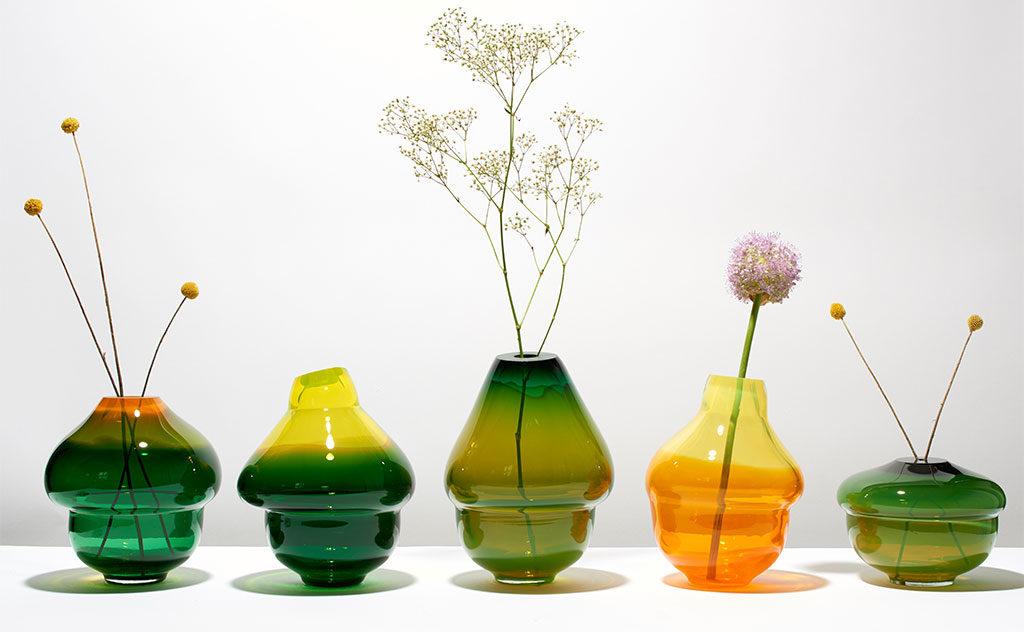 vasi vetro colorato design