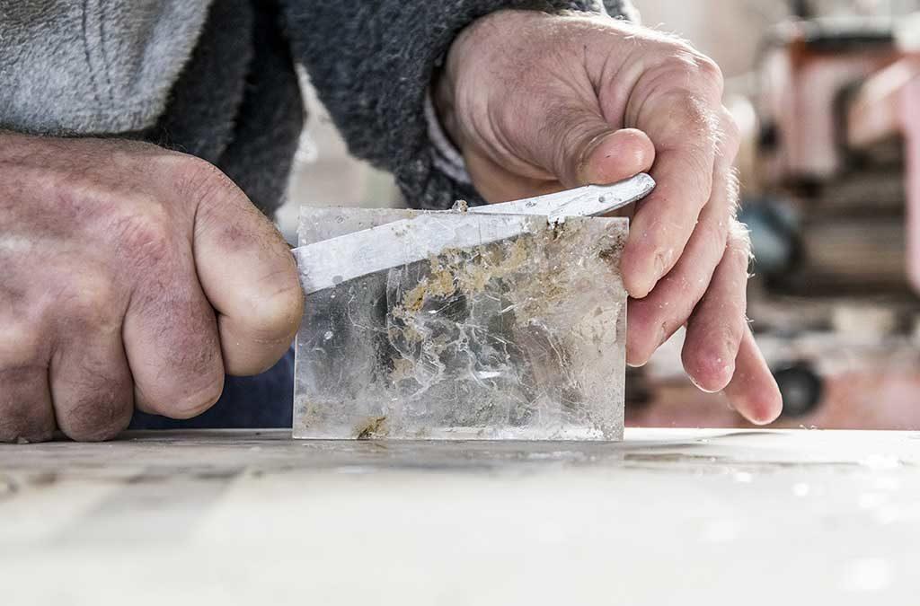 lavorazione vetro artigiano