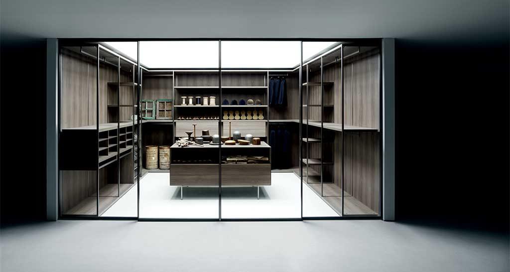cabina armadio legno e vetro