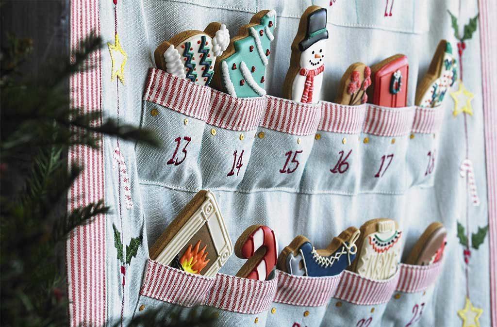 calendario avvento tasche tessuto biscotti