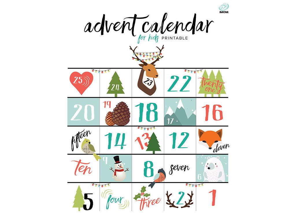 calendario avvento stampabile