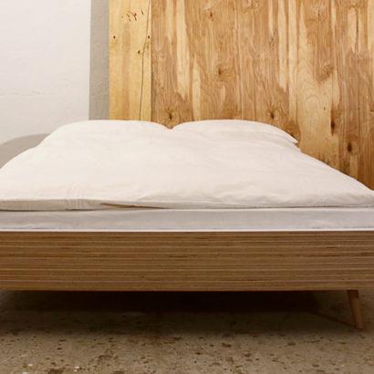 struttura letto matrimoniale legno
