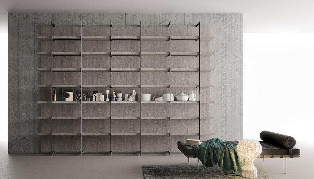 libreria a parete alta