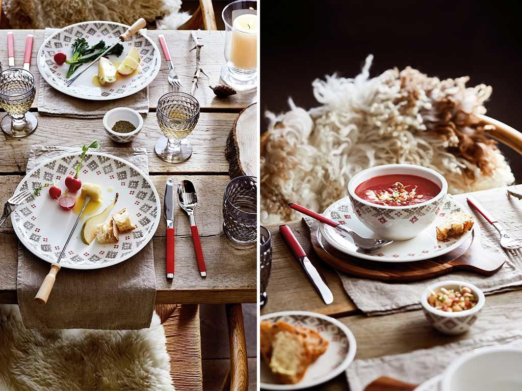piatti piani e tazza colazione
