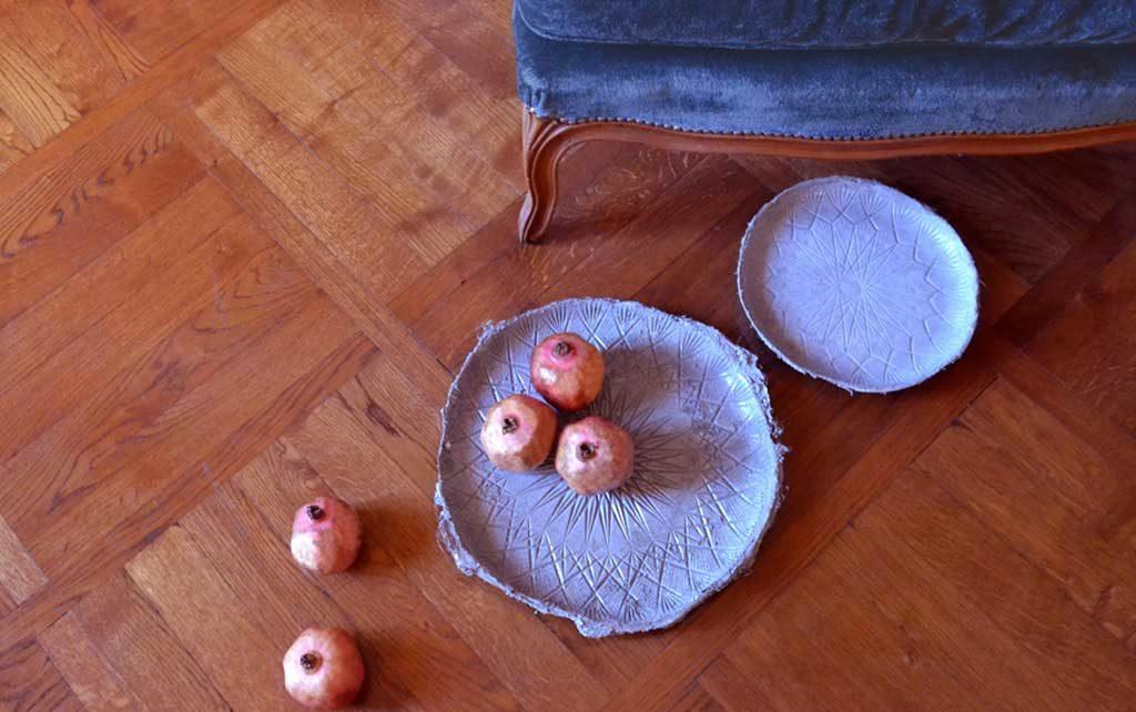 portafrutta solchi ceramica