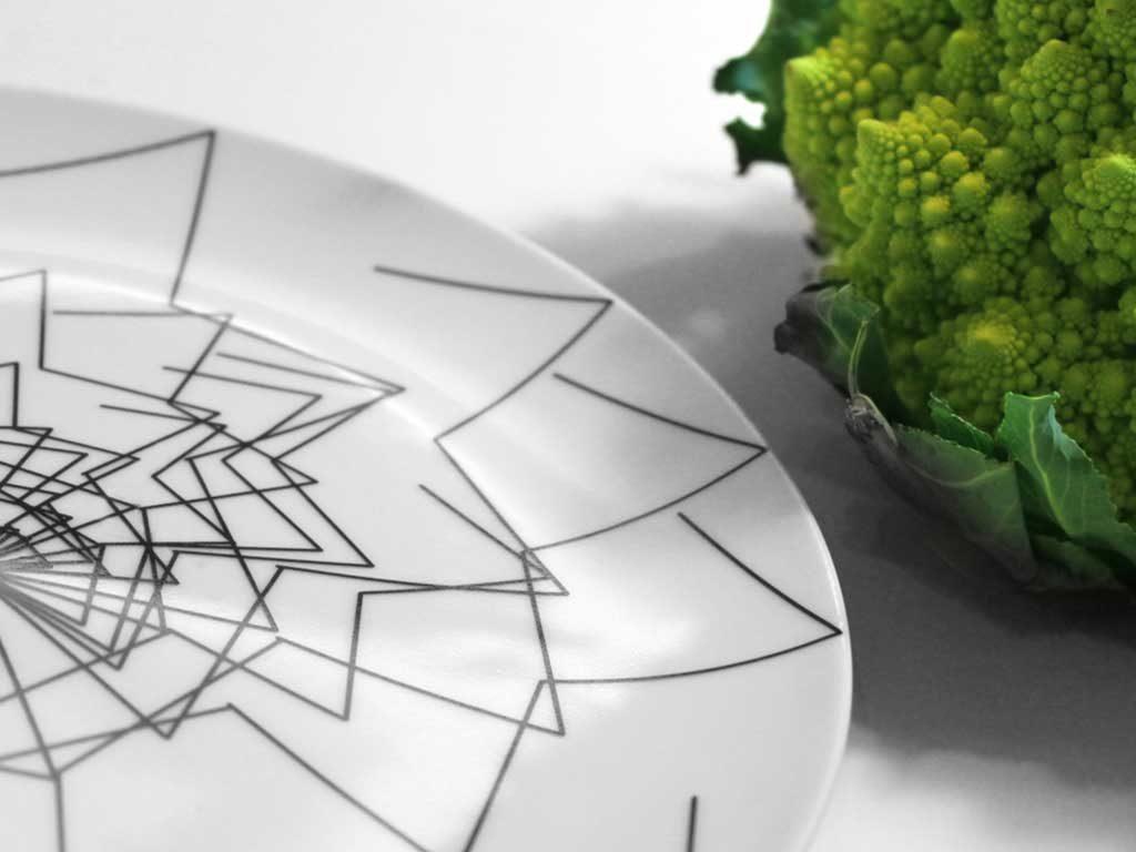 piatto decorazione broccolo verde