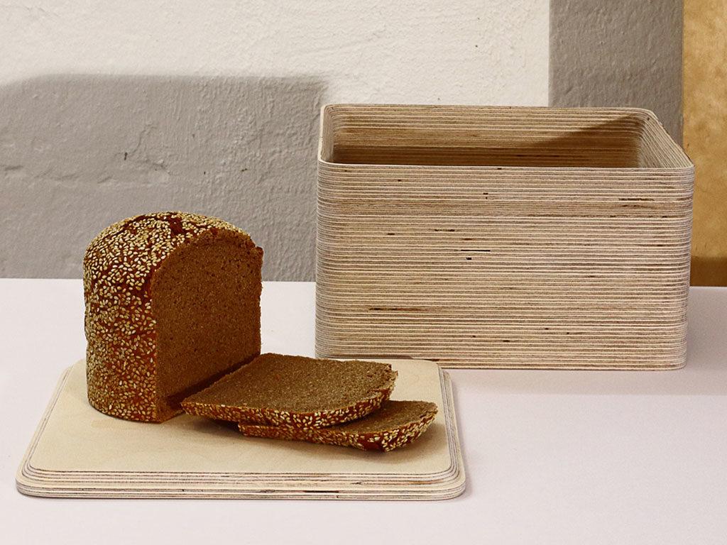 scatola legno pane