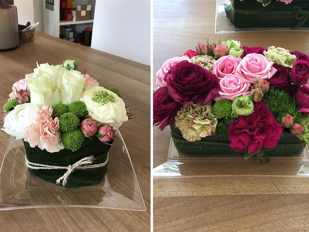 centrotavola fiori con rose