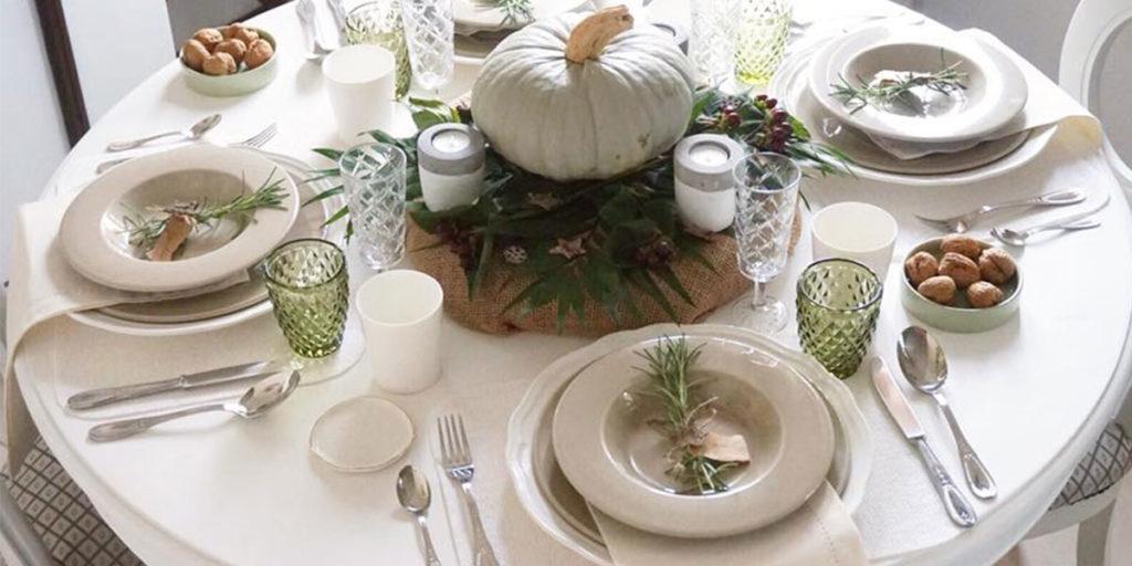 tavola apparecchiata autunno