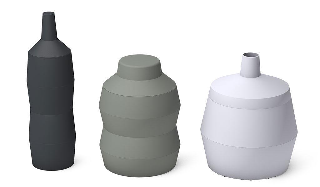 contenitori bottiglia vaso