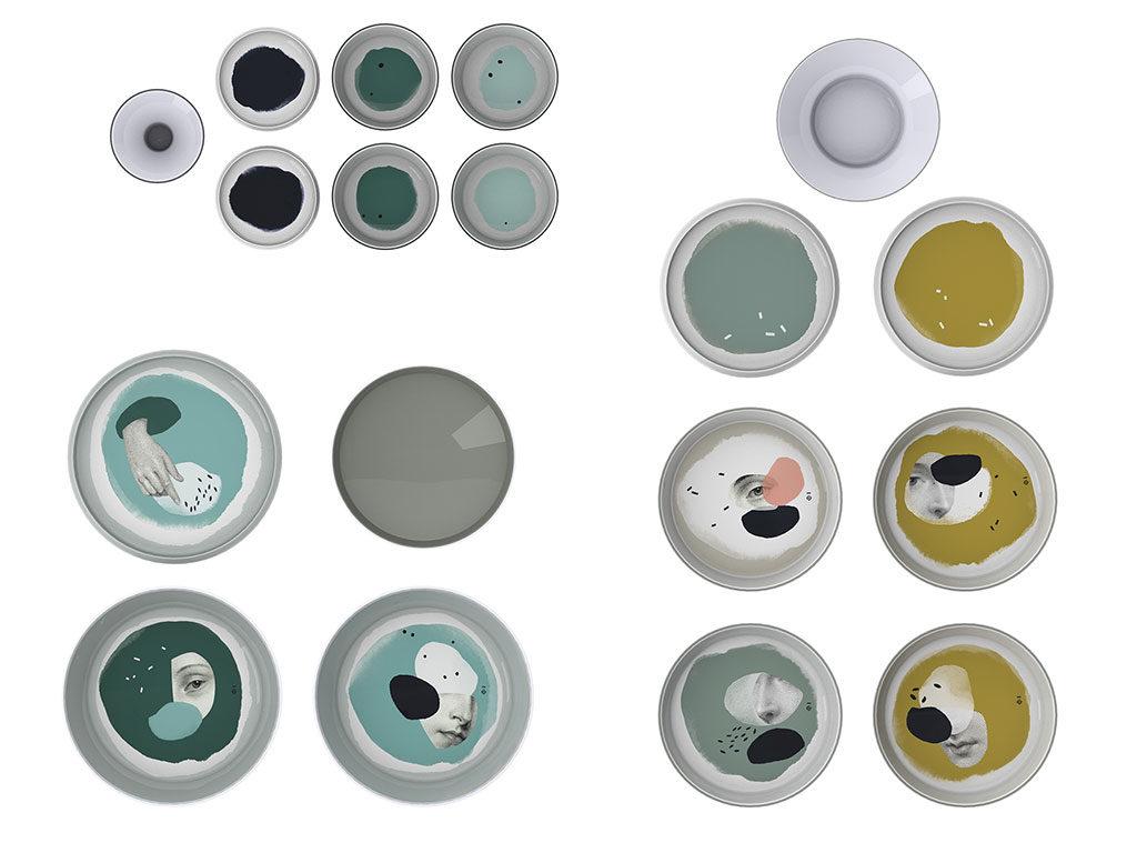 piatti e ciotole decorati