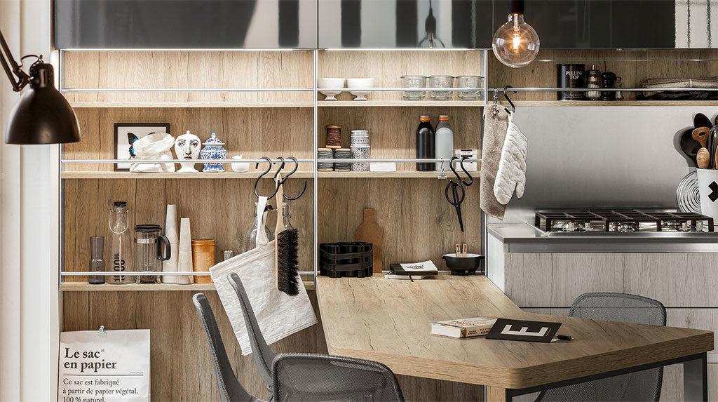 cucina legno arredo tavolo angolo
