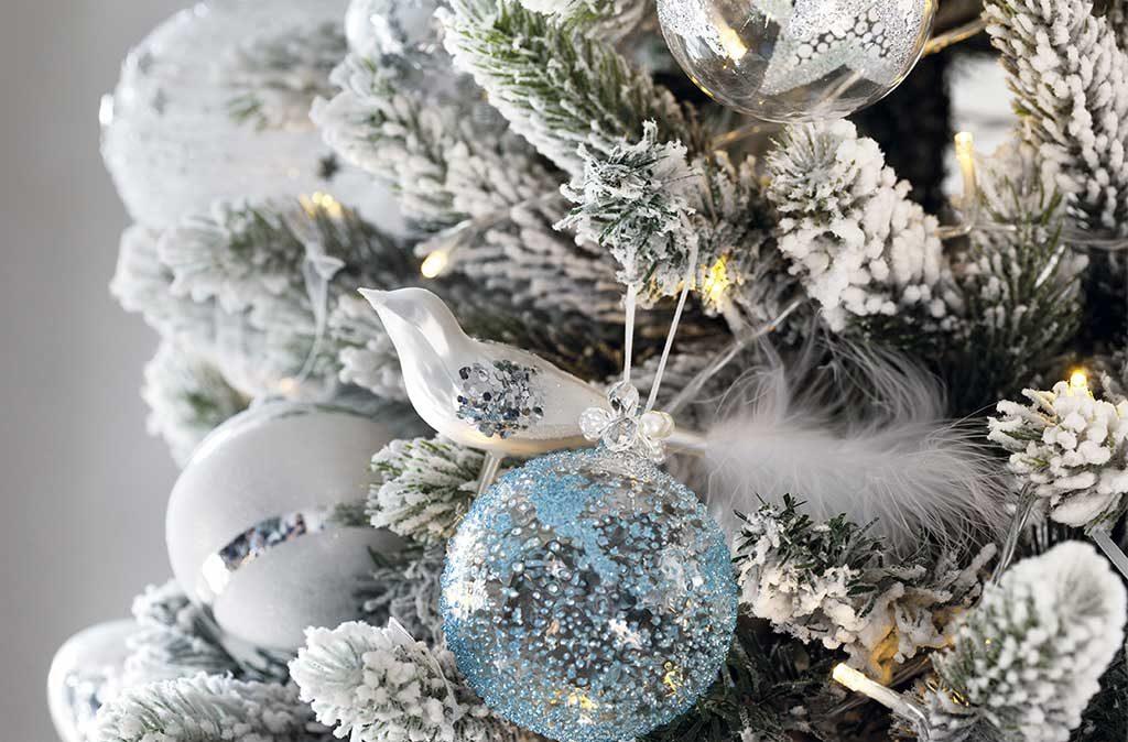 uccellino vetro albero natale