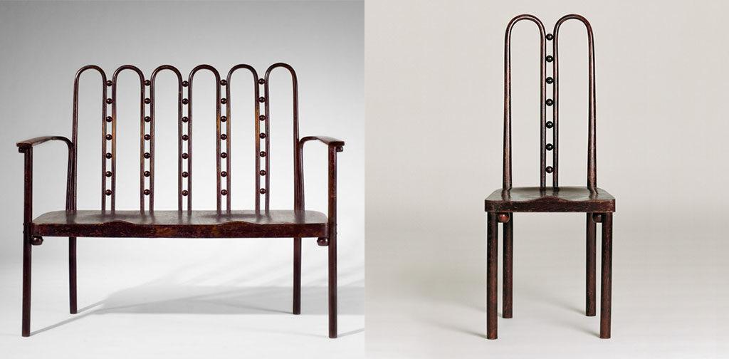 divano e sedia legno hoffmann