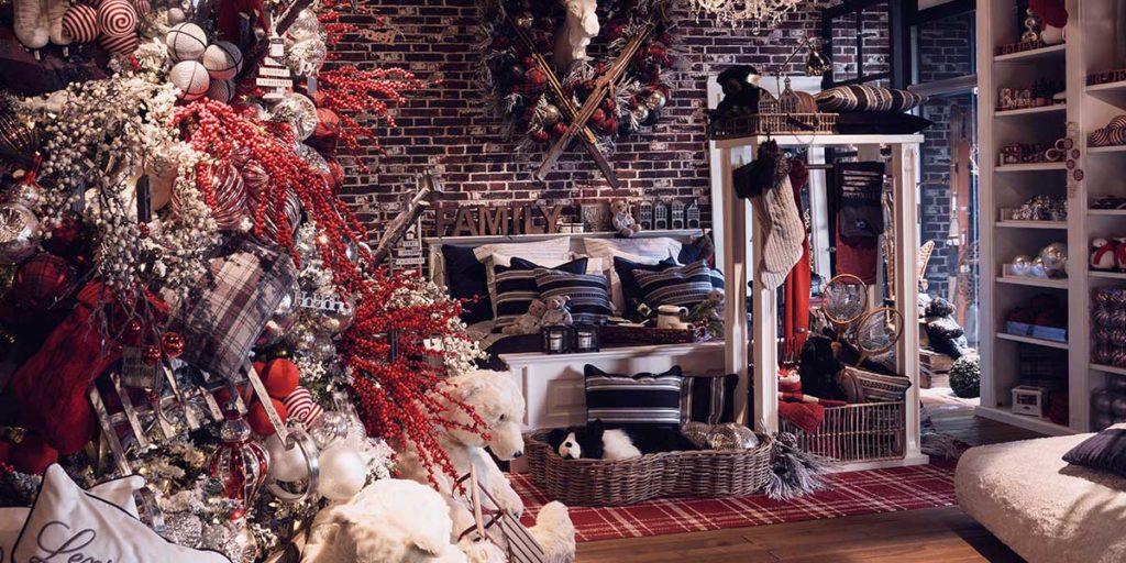 negozio decorazioni natale