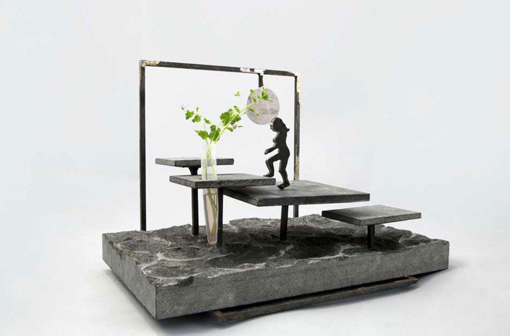 giardino miniatura pietra scura