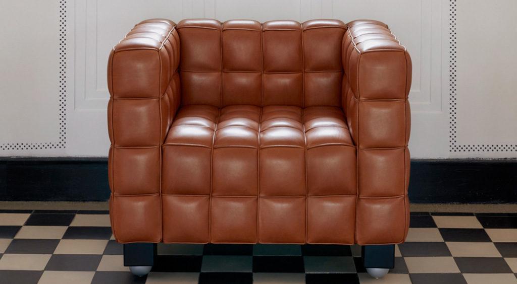 poltrona pelle marrone design