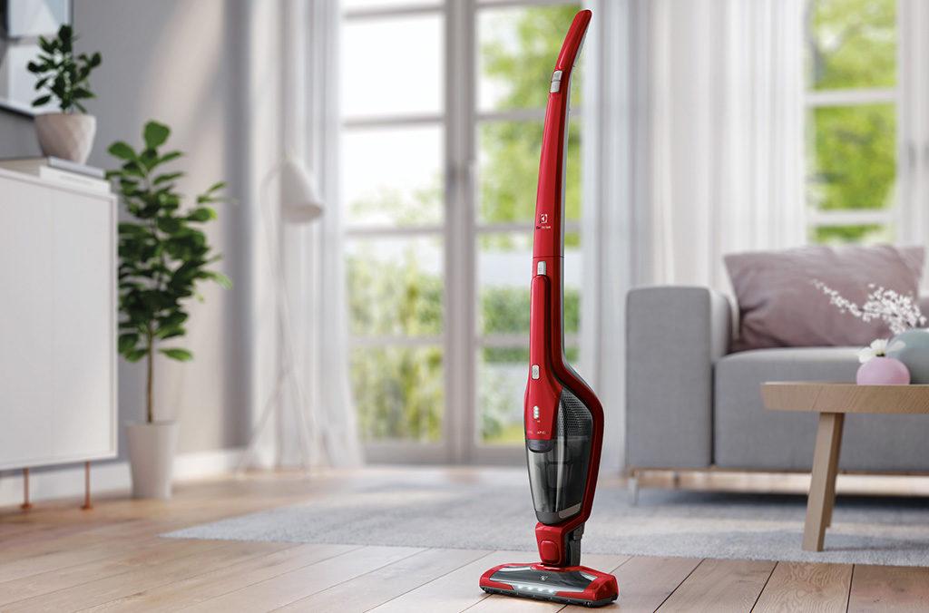 scopa elettrica rossa pulizia animali