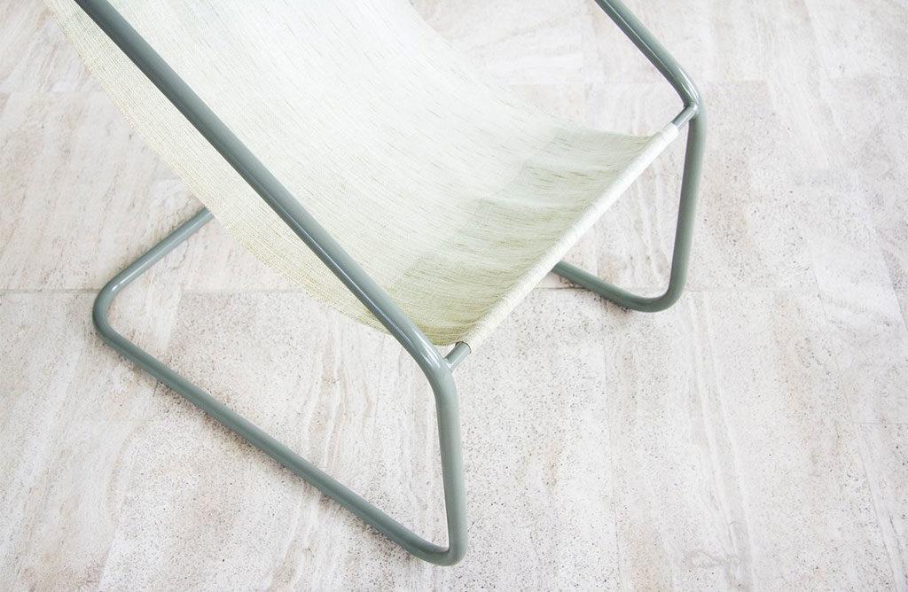 sedia tessuto e telaio tubolare