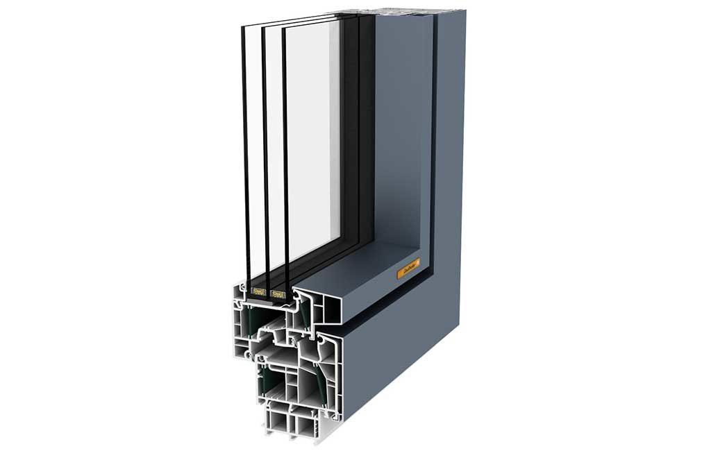 sezione finestra alluminio