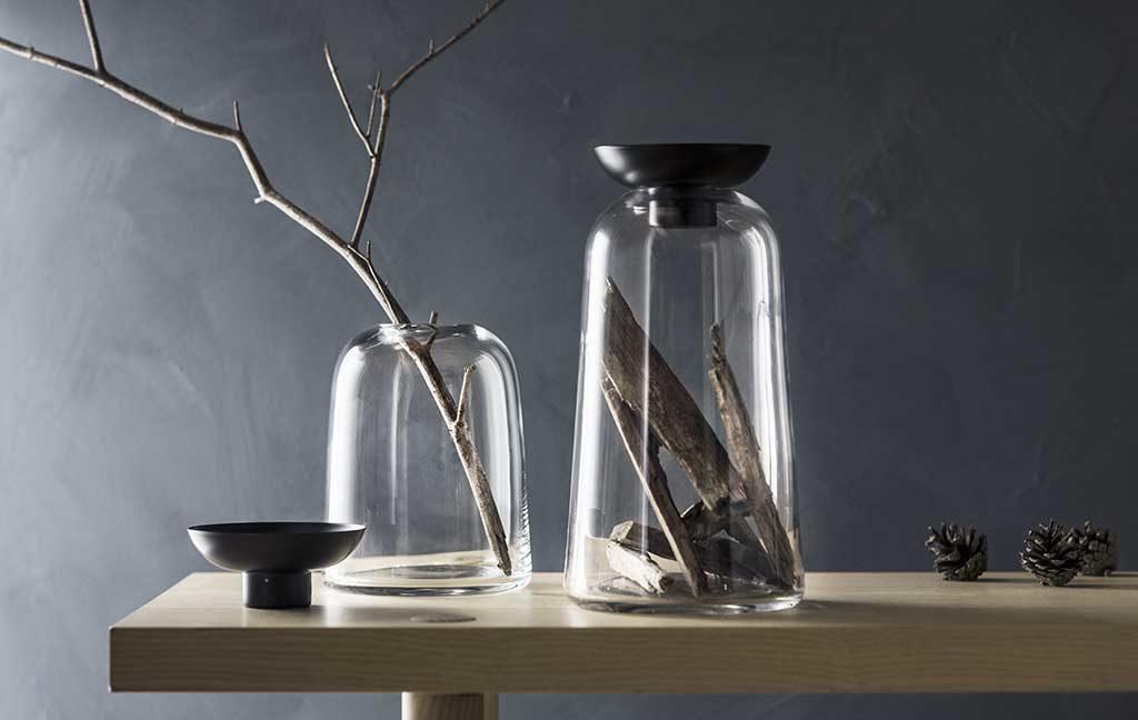 vaso candeliere vetro