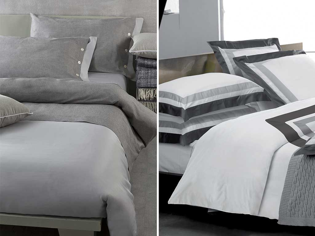 biancheria letto grigio
