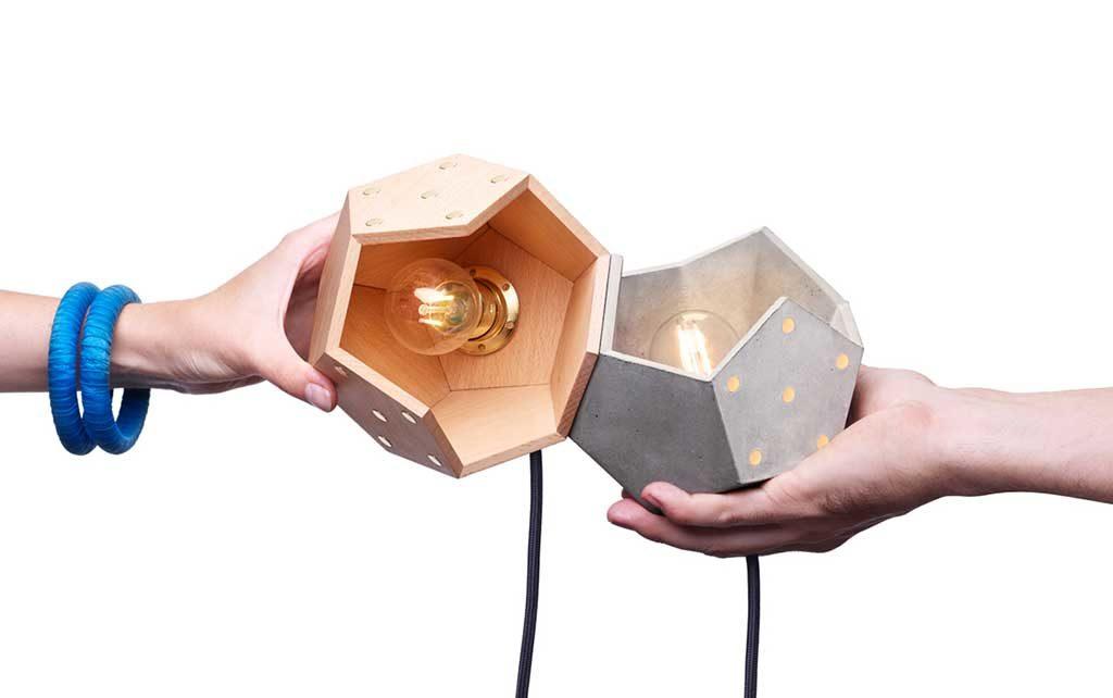 lampade magnetiche legno