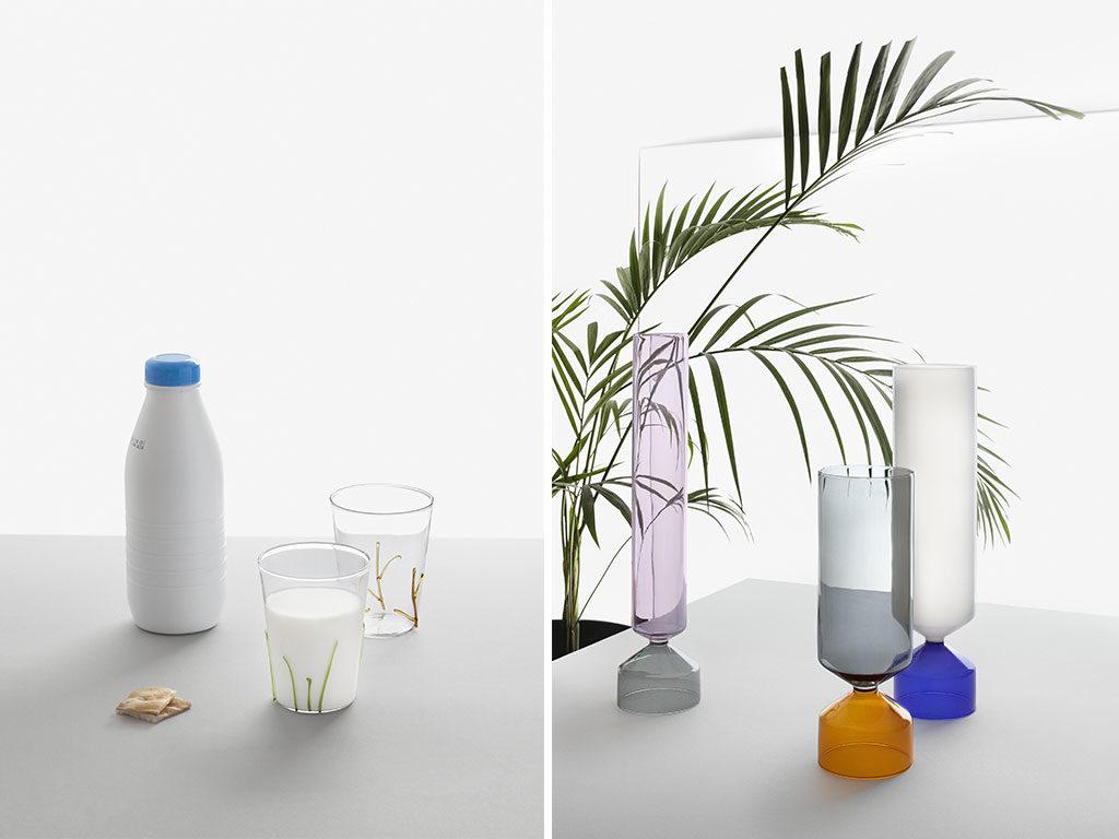 vasi bicchiere vetro colore