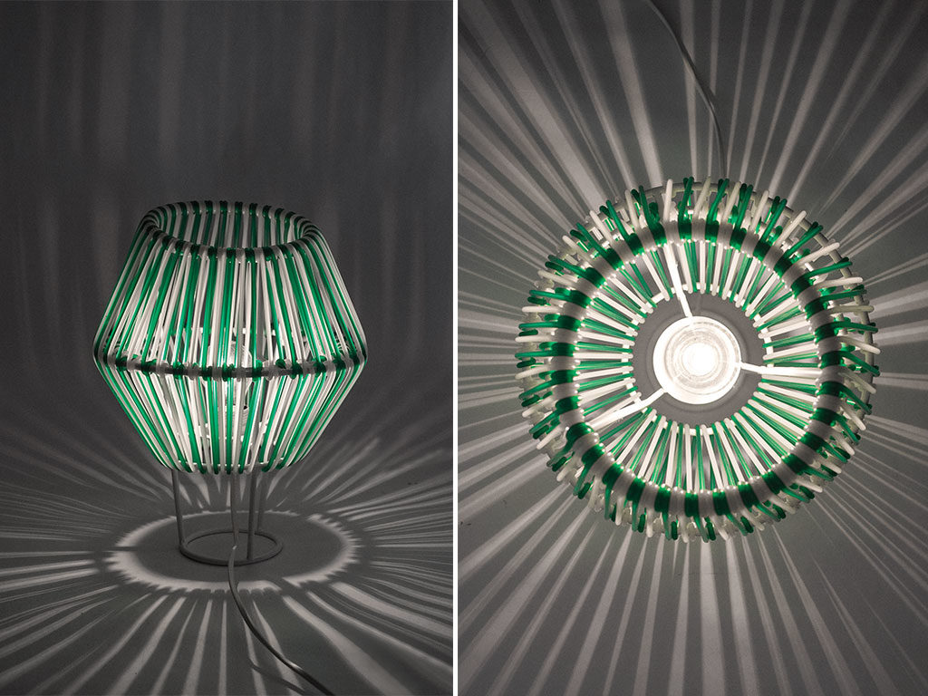 lampade filo e ferro verde