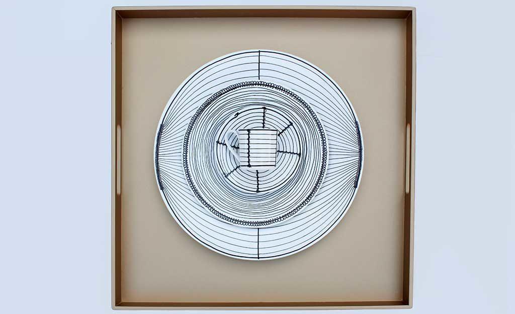 piatti decorati vassoio quadrato