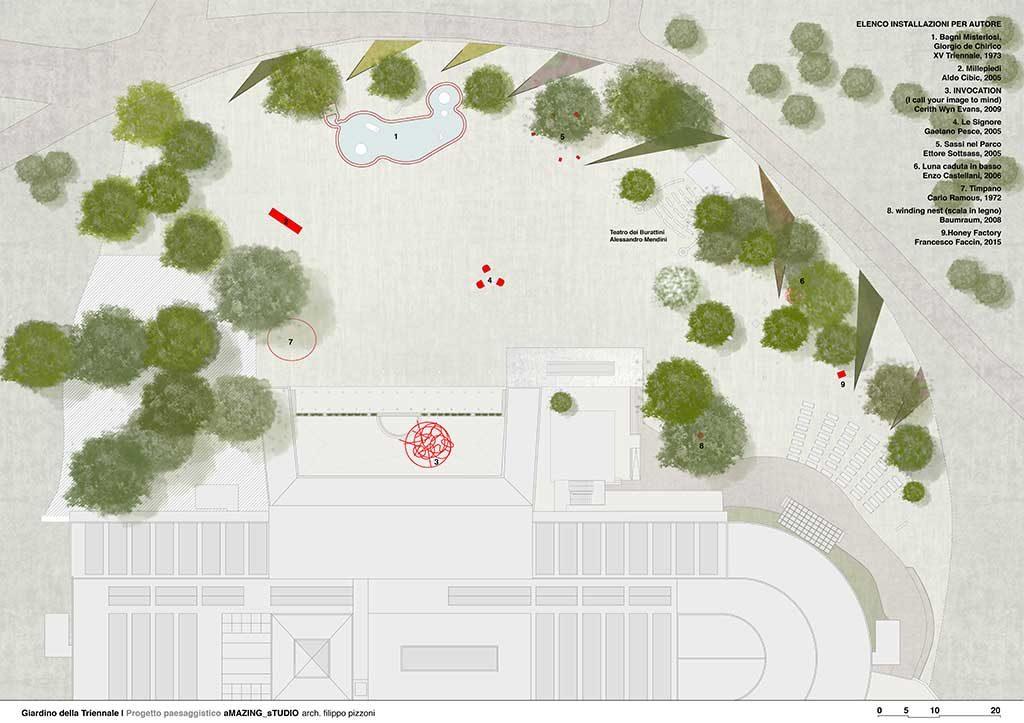 planimetria giardino triennale