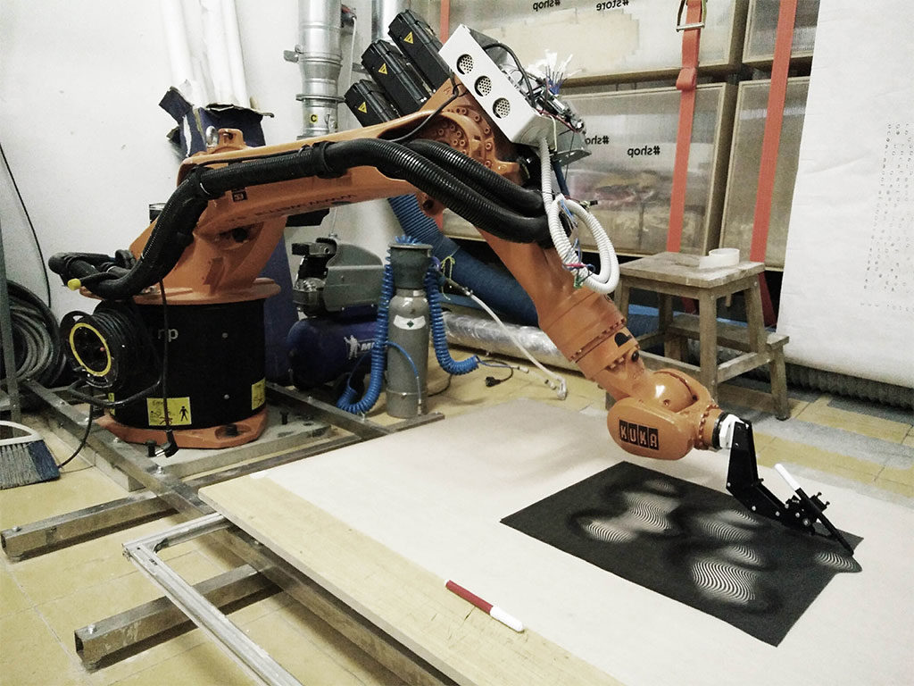 robot disegno 3d