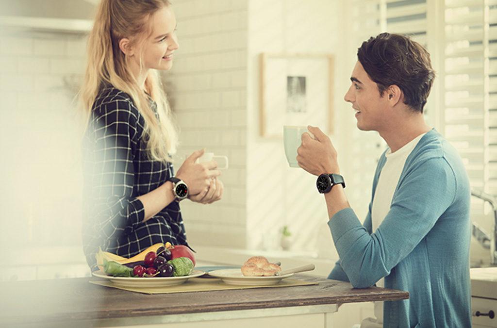 coppia colazione orologi smart