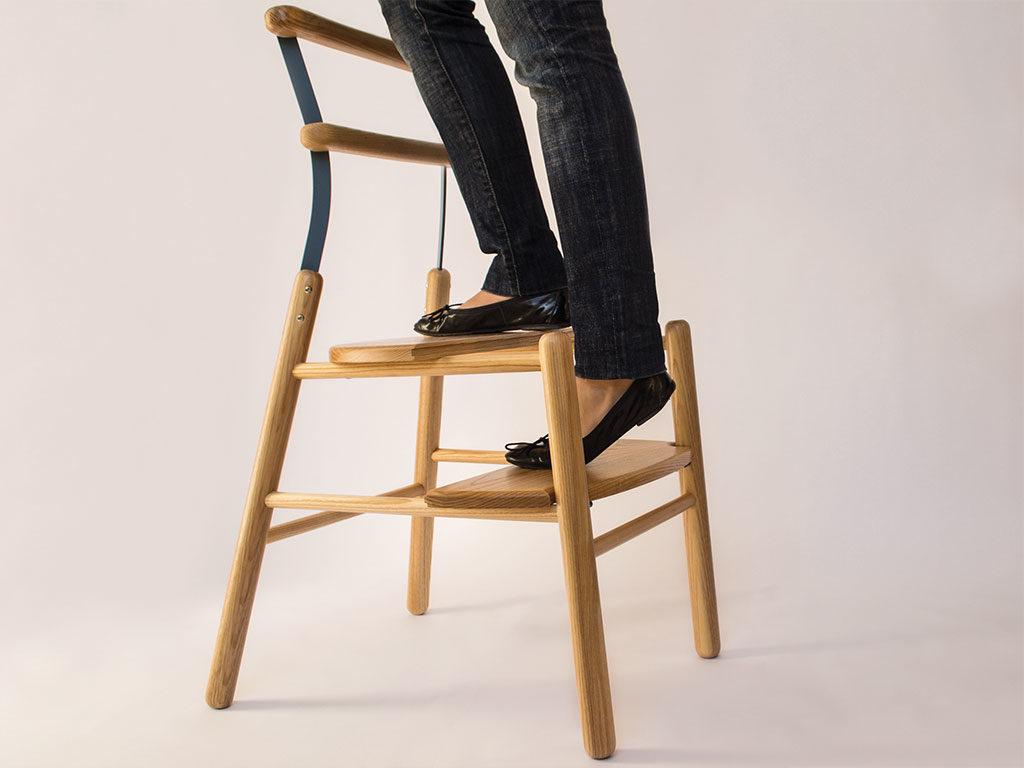 sedia legno scalini