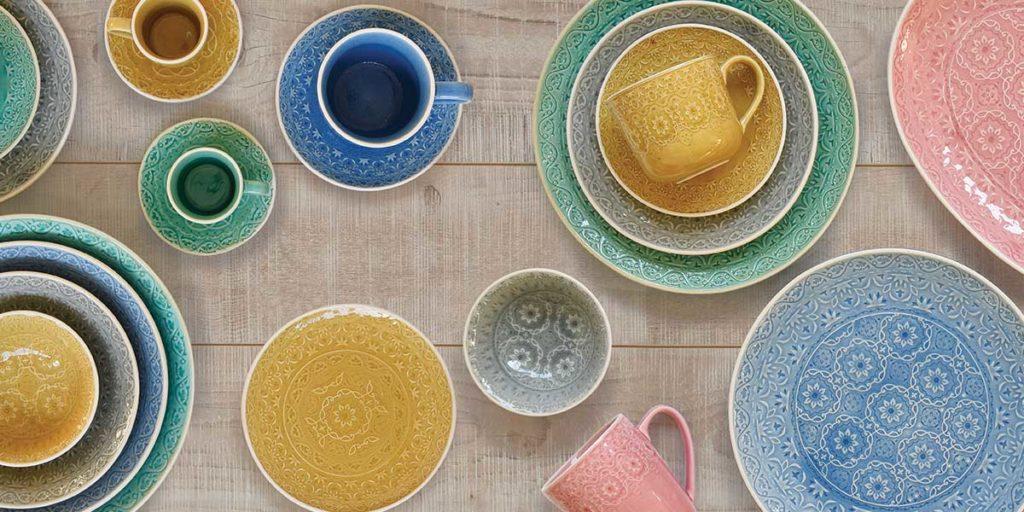 tazze piatti ceramica colore