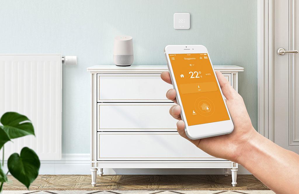 cellulare app termostato casa