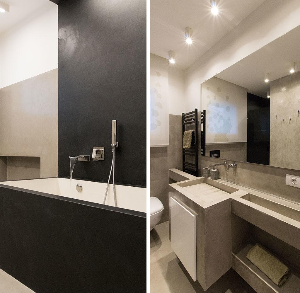 vista bagno vasca lavabo