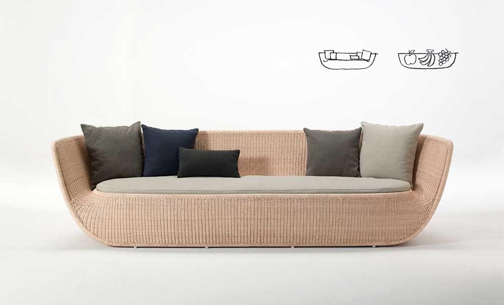 divano vimini grande