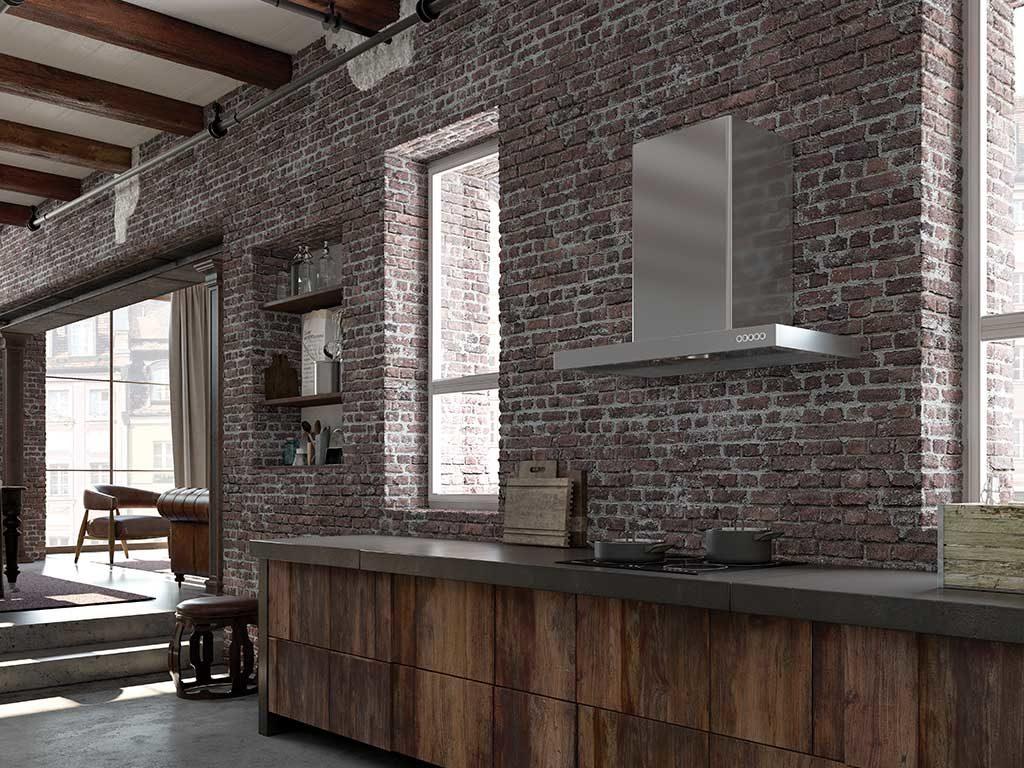 cappa parete acciaio cucina