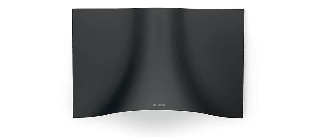 cappa nera cucina acciaio